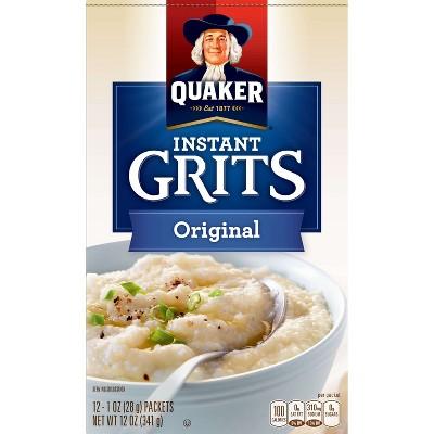 Quaker Instant Grits Original Packets - 12ct