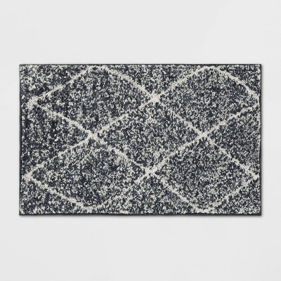 "2'6""X4' Criss Cross Easy Care Rug Charcoal/Ivory - Threshold™"