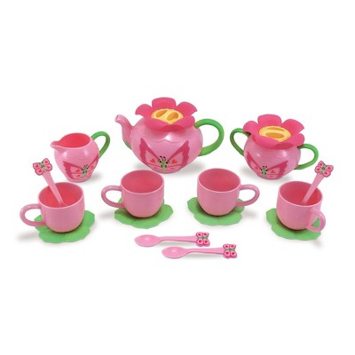 Melissa & Doug Sunny Patch Bella Butterfly Tea Set (17pc) - Play Food Accessories