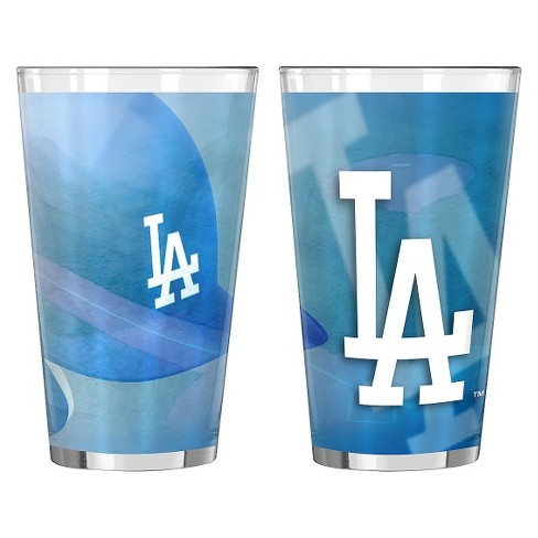 Boelter Brands MLB L.A. Dodgers Set of 2 Shadow Pint Glass - 16oz - image 1 of 1