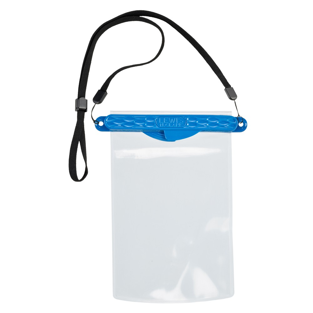 WaterSeals Waterproof Pouch with Magnetic Seal (for phones, keys, credit cards), Blue