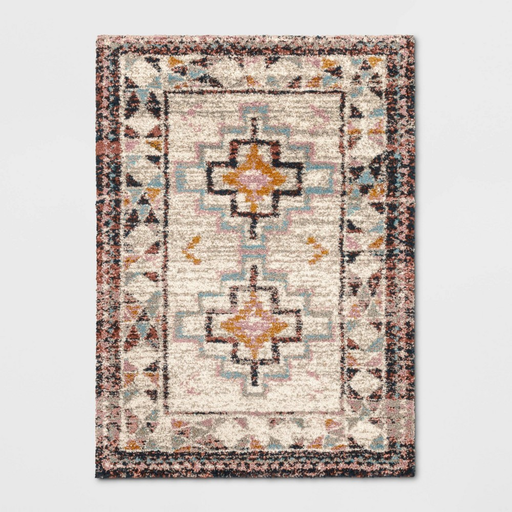 7'X10' Indoor/Outdoor Geometric Shag Woven Area Rug - Opalhouse, Multicolored
