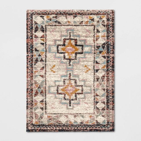 Indoor/Outdoor Geometric Shag Woven Rug - Opalhouse™ - image 1 of 3