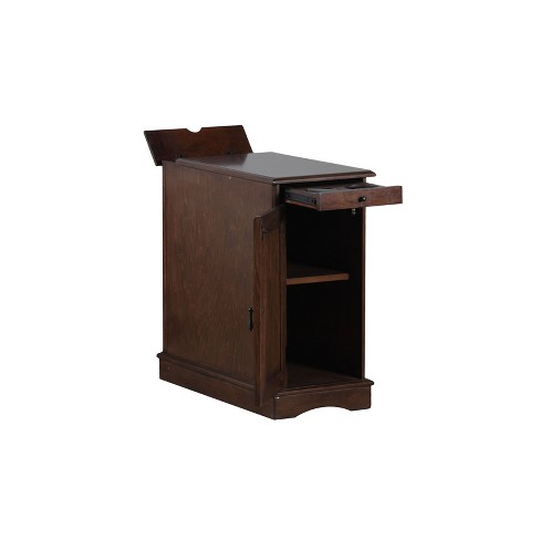 Felix Accent Table With Usb Charging Station Hazelnut Powell