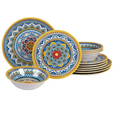 12pc Melamine Portofino Dinnerware Set - Certified International