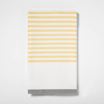 Striped Dual Sided Kitchen Towel Summer Yellow - Project 62™