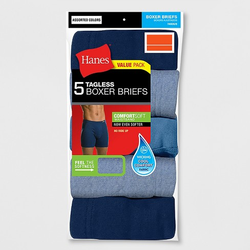 Hanes Men's 5pk Comfortsoft Waistband Boxer Briefs with Fresh IQ - image 1 of 1