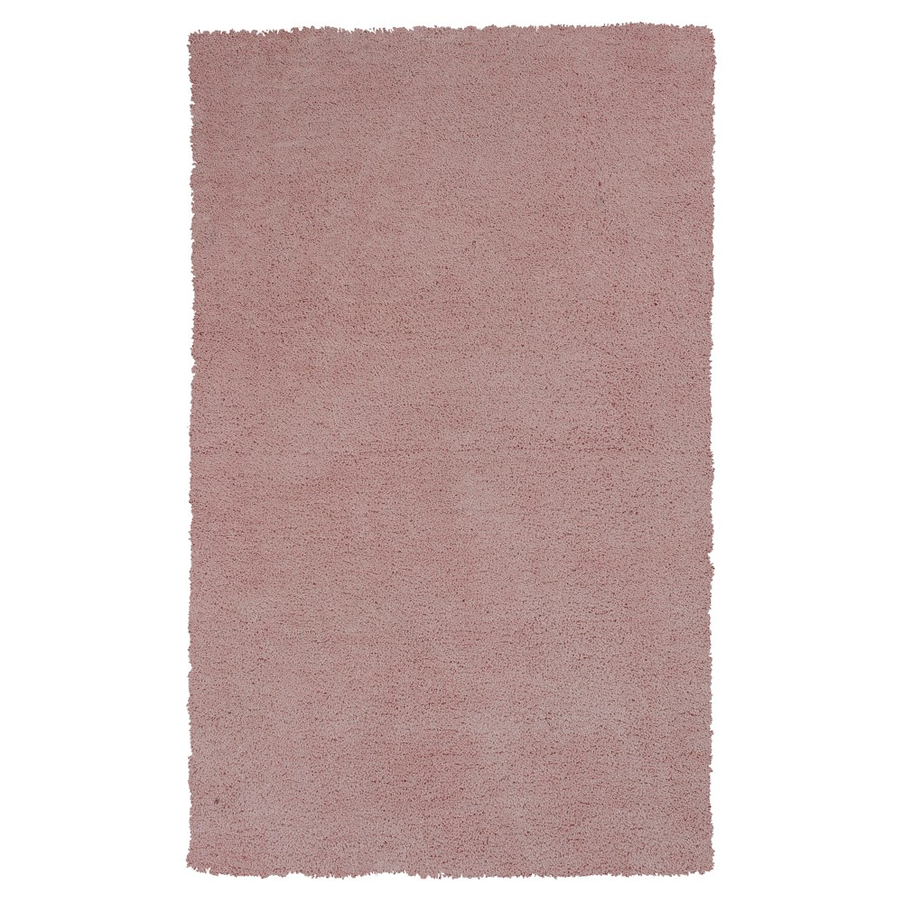 Pink Rose Solid Woven Area Rug 3'3