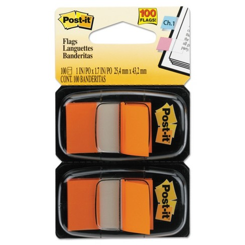 Post-it® Flags Standard Page Flags in Dispenser, Orange, 100 Flags/Dispenser - image 1 of 1