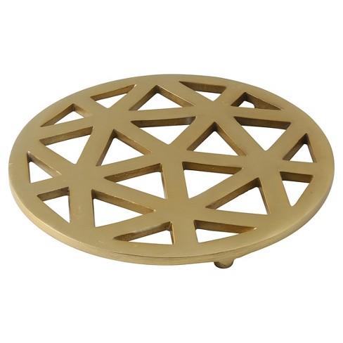 thirstystone aluminum trivet gold target. Black Bedroom Furniture Sets. Home Design Ideas