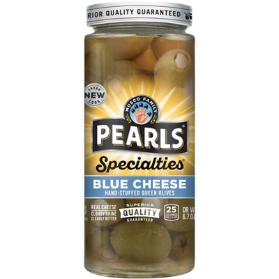 Pearls Specialties Blue Cheese Hand-Stuffed Queen Olives - 6.7oz
