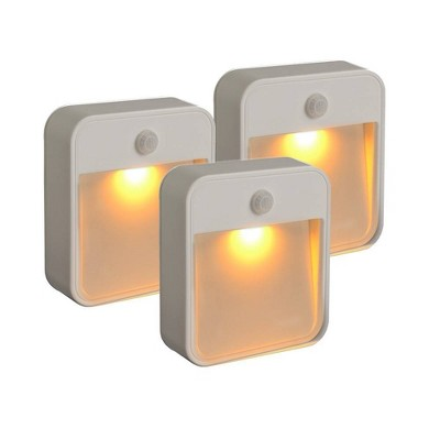Mr Beams 3pk 20 Motion-Activated Lumens Amber LED Stick Anywhere Light