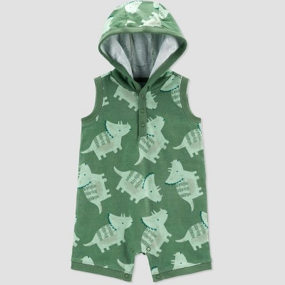 Baby Boys' Dino Romper - Just One You® made by carter's Olive 6M