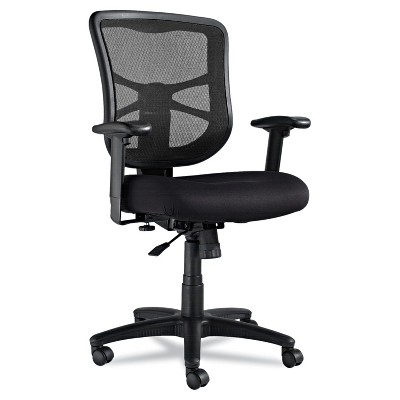 Alera Elusion Series Mesh Mid-Back Swivel/Tilt Chair, Black EL42BME10B