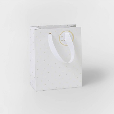 White with Gold Swiss Dot Gift Bag - Sugar Paper™