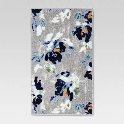 Kitchen Rug Cool Floral Blue (20 X45 )- Threshold™