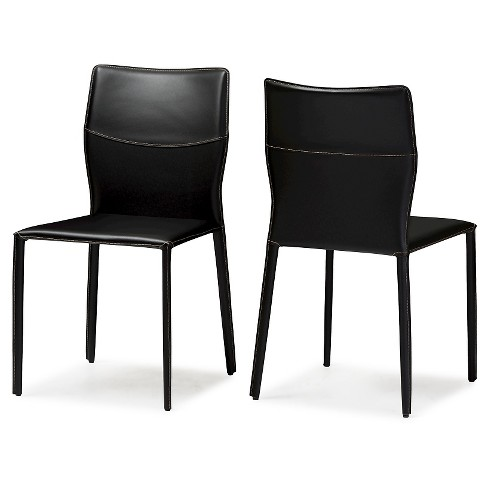 Asper Modern and Contemporary Bonded Leather Upholstered Dining Chairs (Set of 2) - image 1 of 4