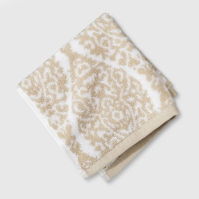Performance Washcloth Bare Canvas Ogee Tan - Threshold™