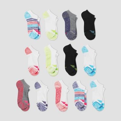 Hanes Girls' 12 + 1 Bonus Pack Super No Socks - Colors Vary