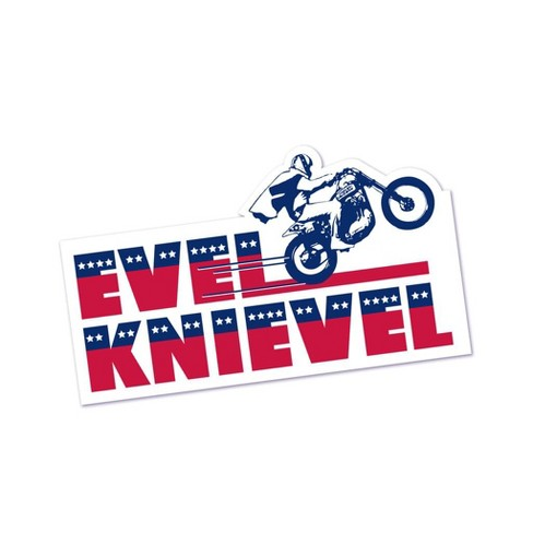 Crowded Coop, LLC Evel Knievel Bumper Sticker - image 1 of 1