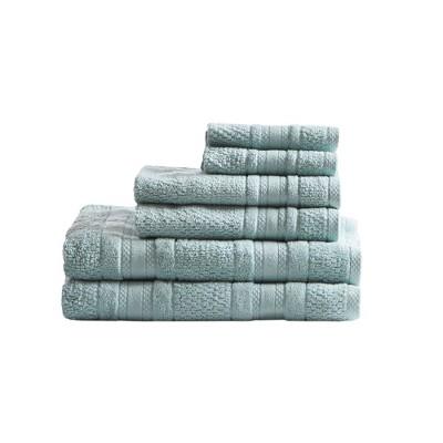 6pc Roman Super Soft Cotton Bath Towel Set Seafoam