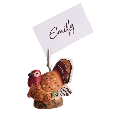 Gallerie II Turkey Place Card Holder