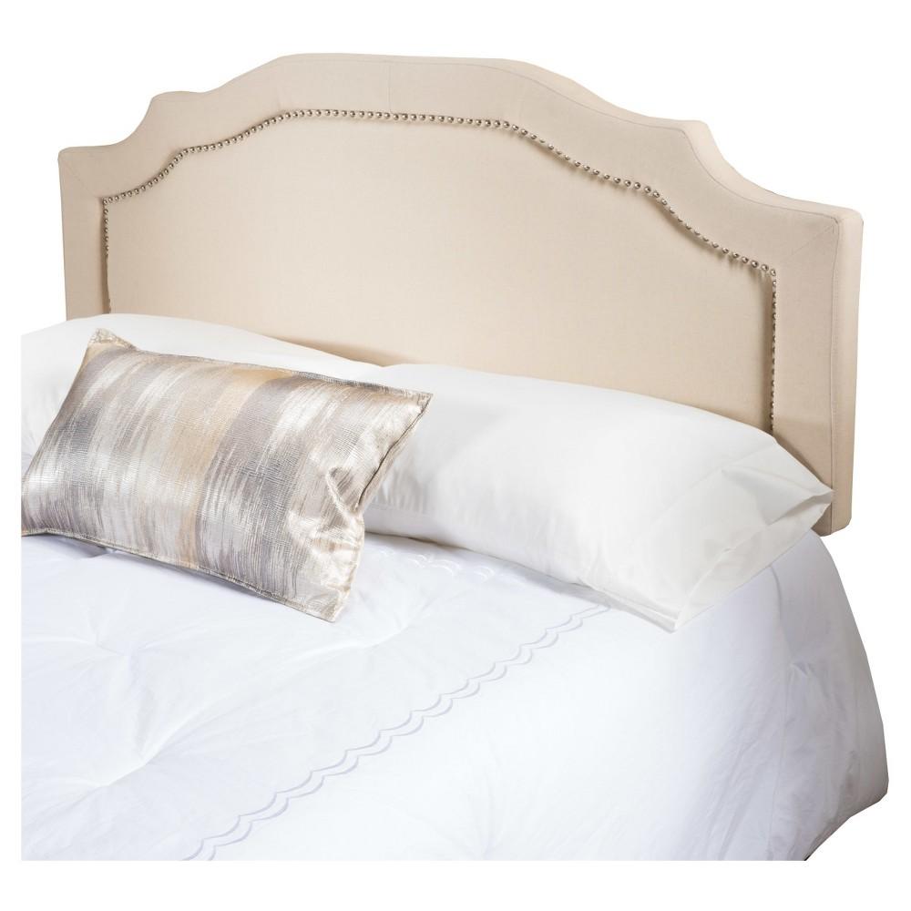 Broxton Studded Upholstered Headboard - Full/Queen - Beige - Christopher Knight Home