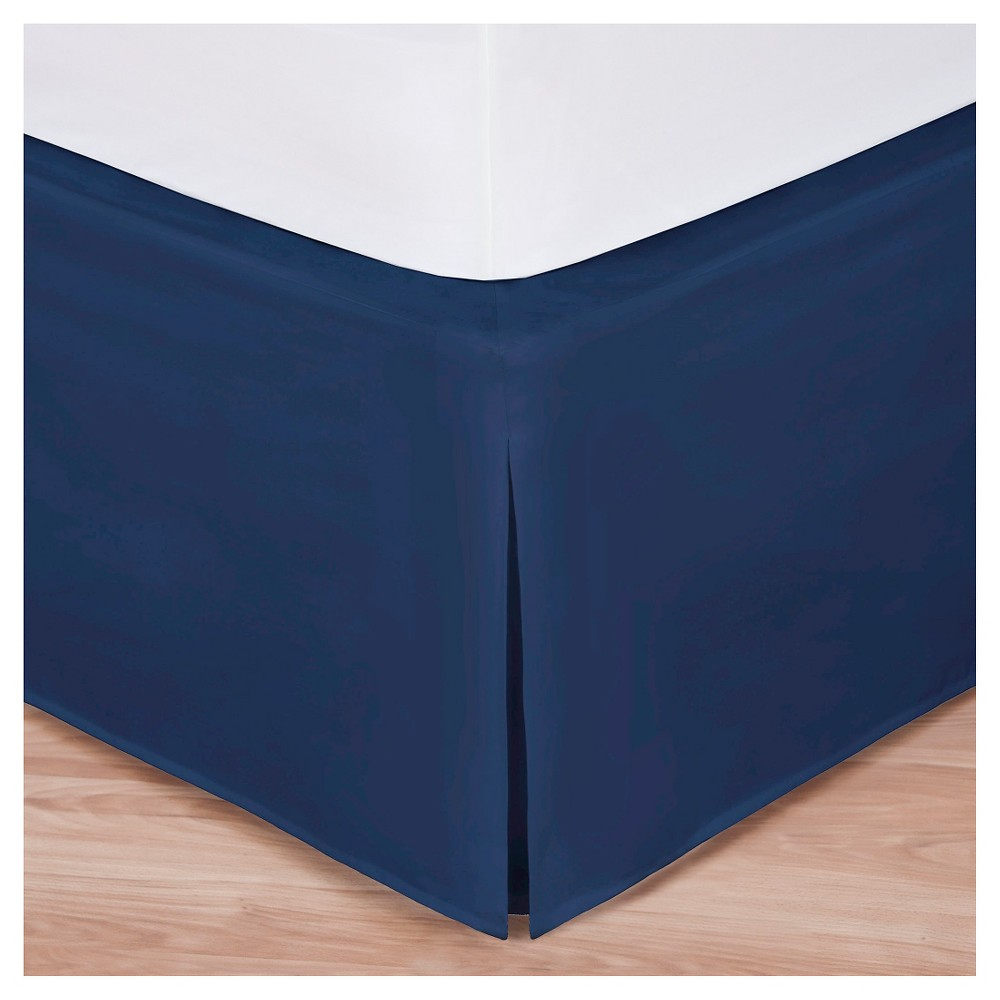 "Image of ""King Tailored Bedskirt 14"""" Drop Gray - Magi Skirt, Size: California King, Blue"""