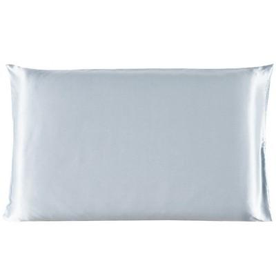 400 Thread Count Standard Size 100% Mulberry Silk Pillow Case Cover Silver Gray - PiccoCasa
