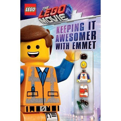 Keeping It Awesome-r With Emmet : The Lego Movie 2: Guide With Emmet Minifigure - (Paperback) - by Scholastic Inc. & Meredith Rusu