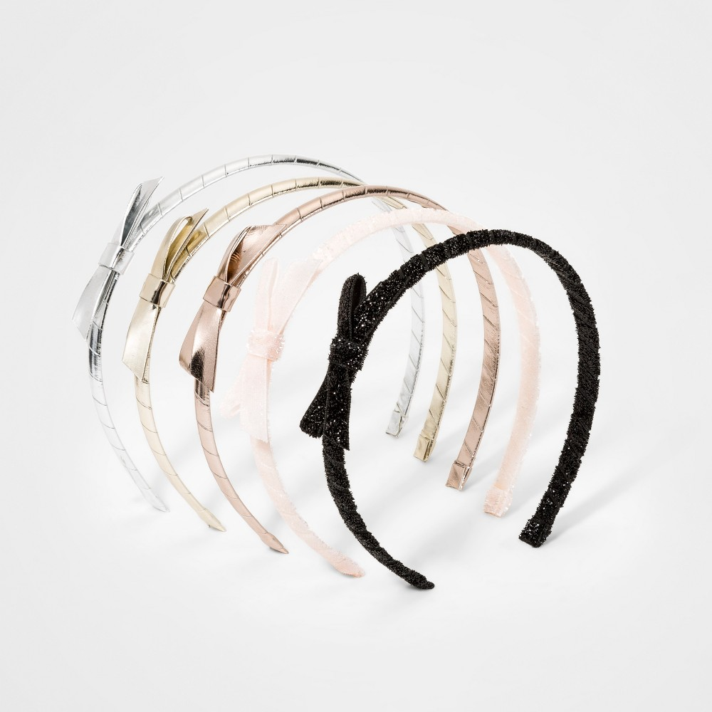 Girls' 5pk Bow Headbands - Cat & Jack, Multi-Colored