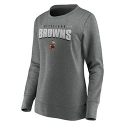 NFL Cleveland Browns Women's Distressed Throwback Fleece T-Shirt