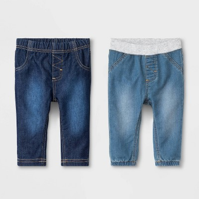 Baby Boys' Cozy Stretch Denim Fletcher Wash Jeans - Cat & Jack™ 6-9M