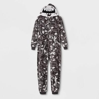 Boys' Shark Union Suit - Cat & Jack™ Gray XL