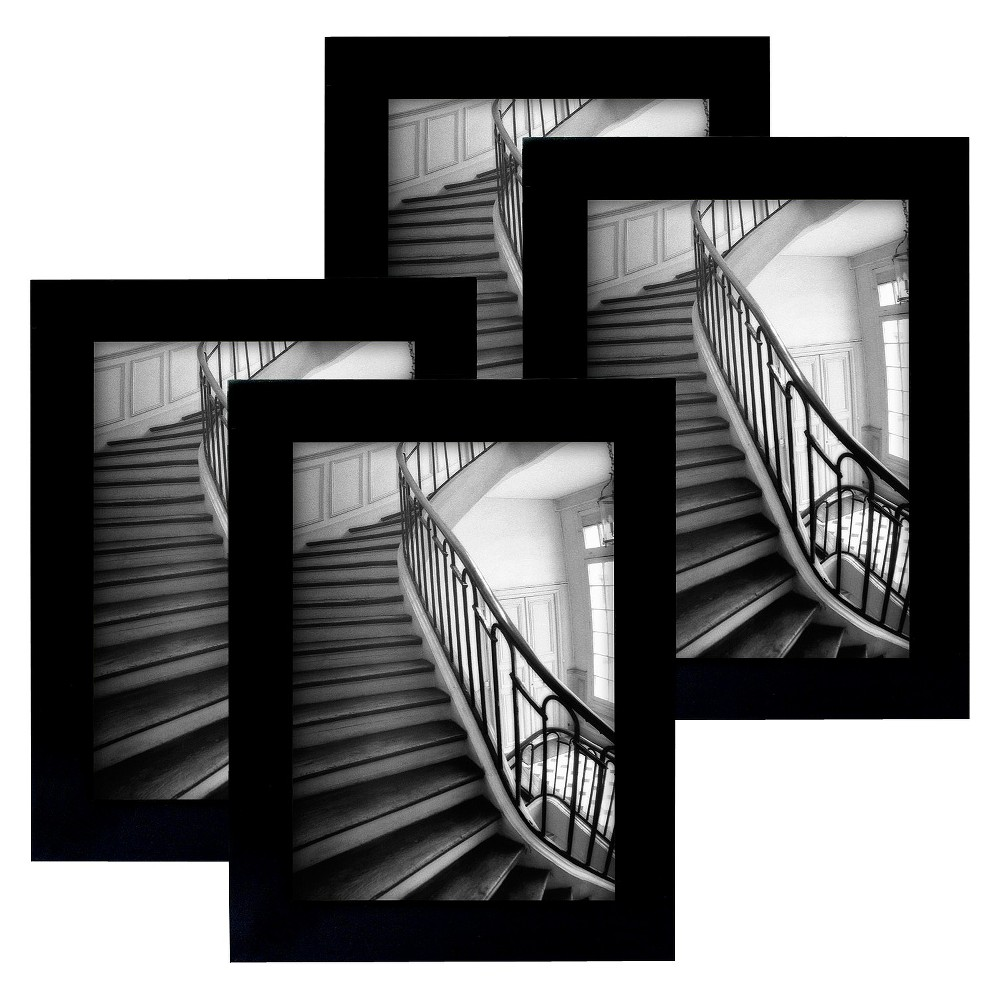 "Image of ""Flat Top Frame 4-Pack Black 5""""x7"""" - Room Essentials , Size: 5x7"""