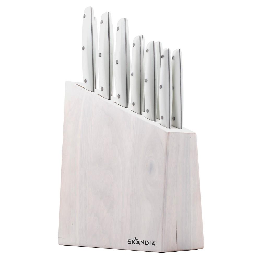 13pc Talvi Cutlery Block Set - Skandia, Washed Wood