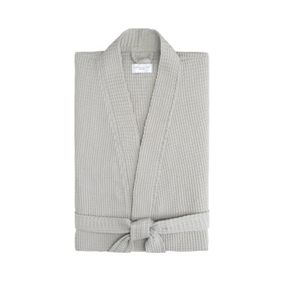 L/XL Relaxed Honeycomb Robe Gray - Cassadecor