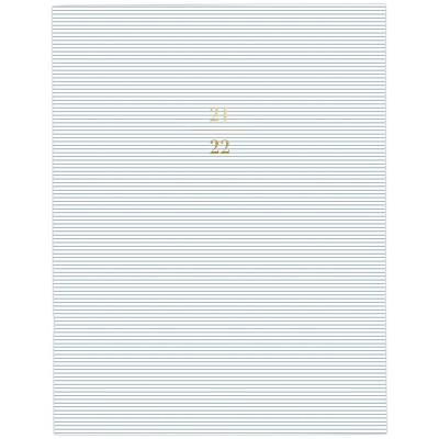 "2021-22 Academic Planner 8.5"" x 11"" Stapled Monthly Blue Stripe - Sugar Paper™"