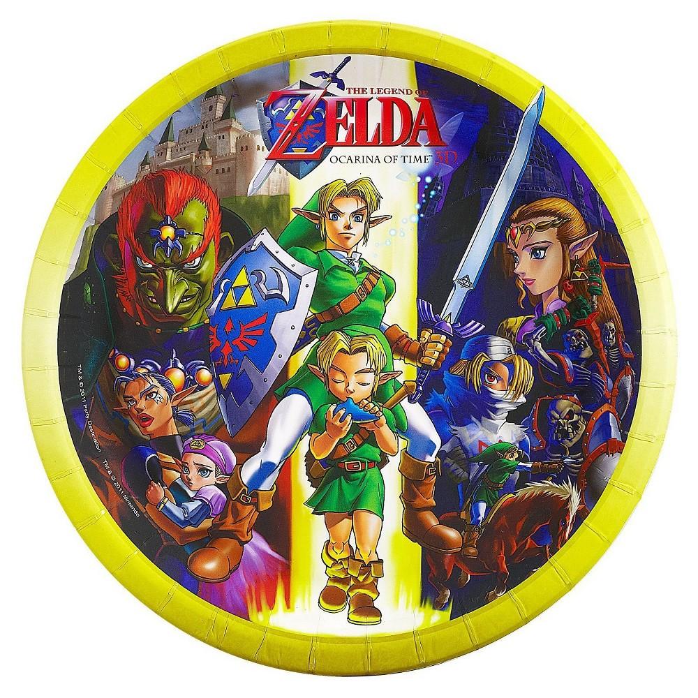 48ct The Legend Of Zelda - Dinner Plate, Multicolored