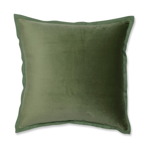 "Pillow Perfect 18""x18"" Velvet Flange Throw Pillow - image 1 of 3"