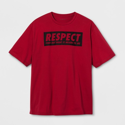 Lyric Culture Adult Big & Tall Short Sleeve Respect T-Shirt - Red 4XB - image 1 of 2
