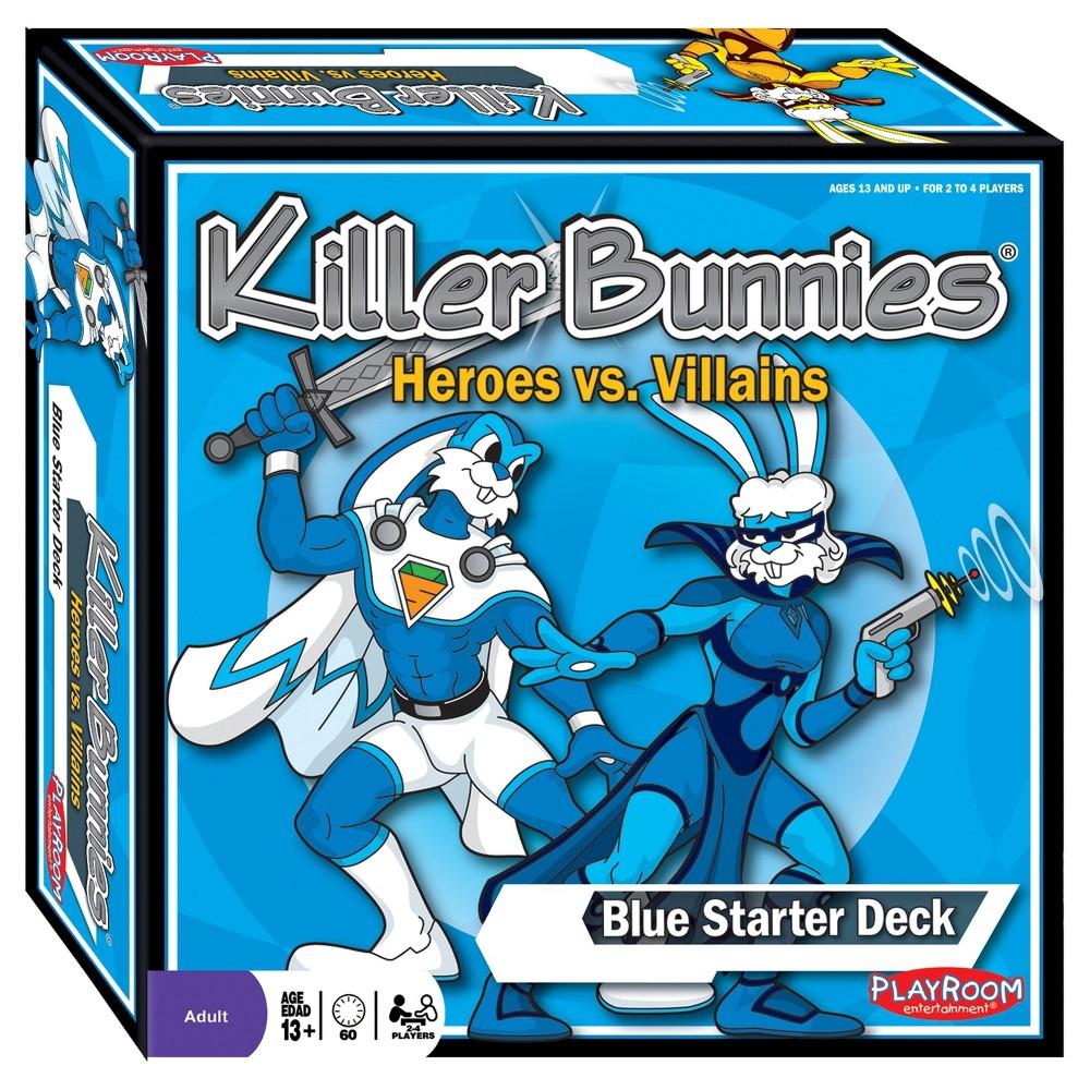 Playroom Entertainment - Killer Bunnies Heroes vs. Villains Blue Starter Set Game