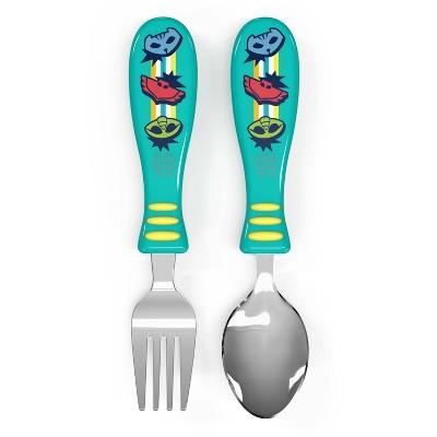 PJ Masks 2pc Kids Silverware Set Blue/Red - Zak Designs