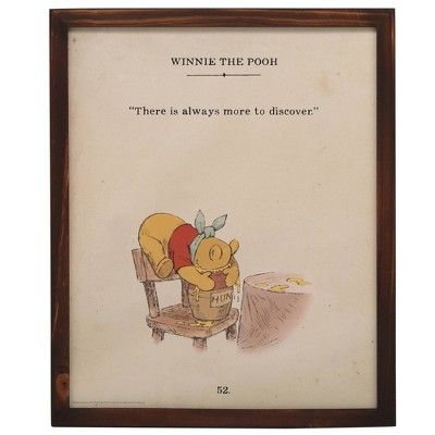 Winnie the Pooh Always More Story Book Wood Framed Wall Canvas