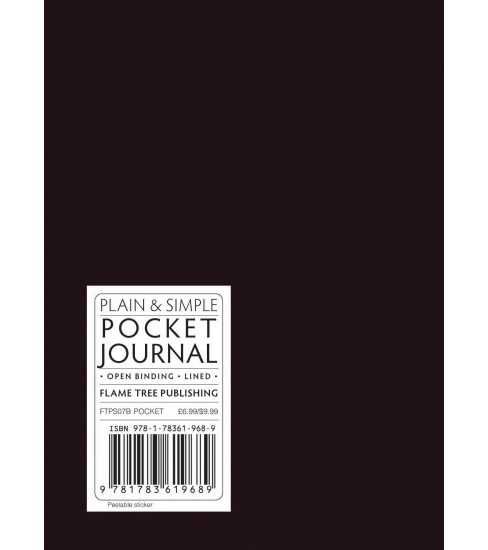 Black Pocket Plain & Simple Journal (Hardcover) - image 1 of 1