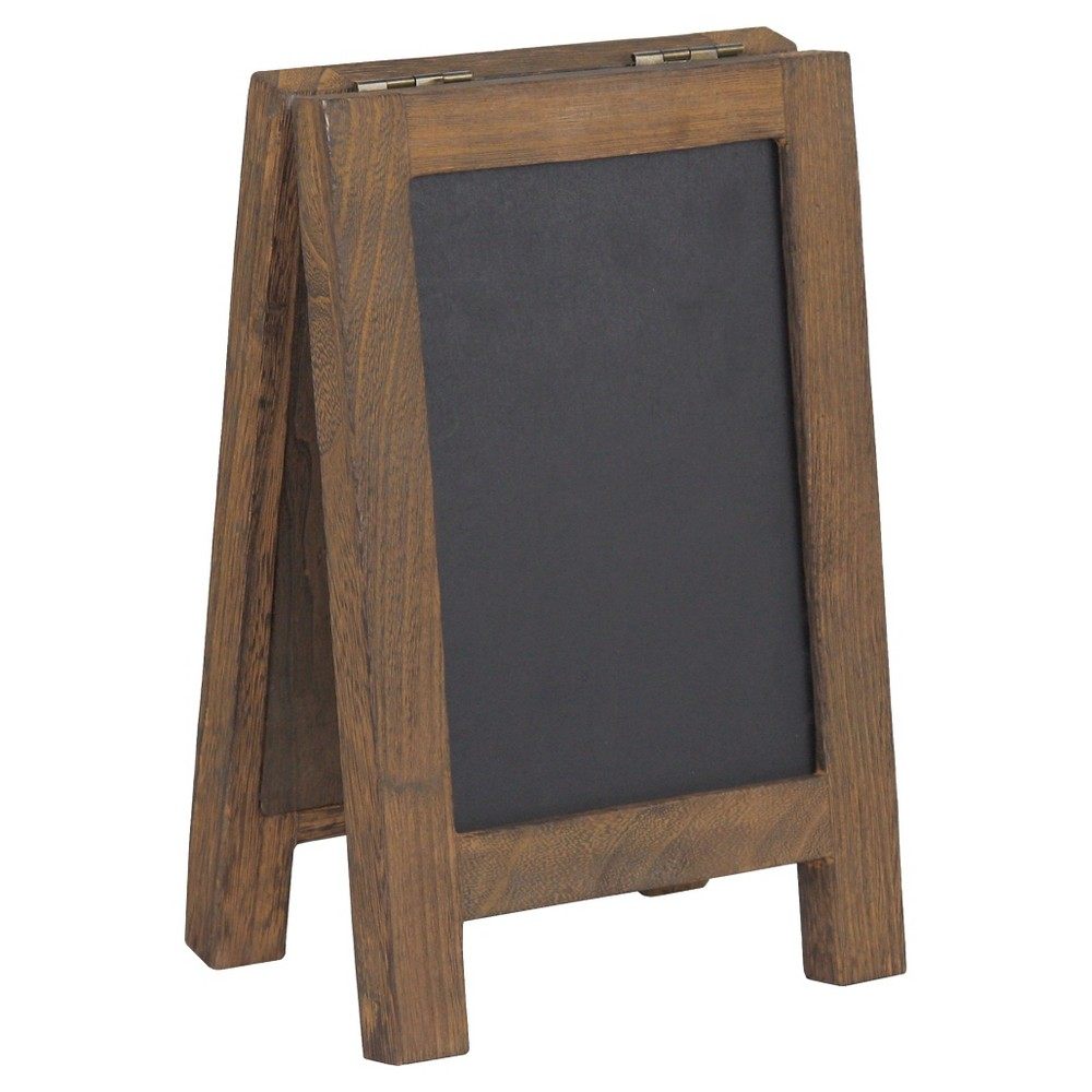 Desktop Chalk and Cork Easel - Threshold, Brown