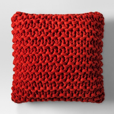 Orange Large Knit Throw Pillow - Project 62™