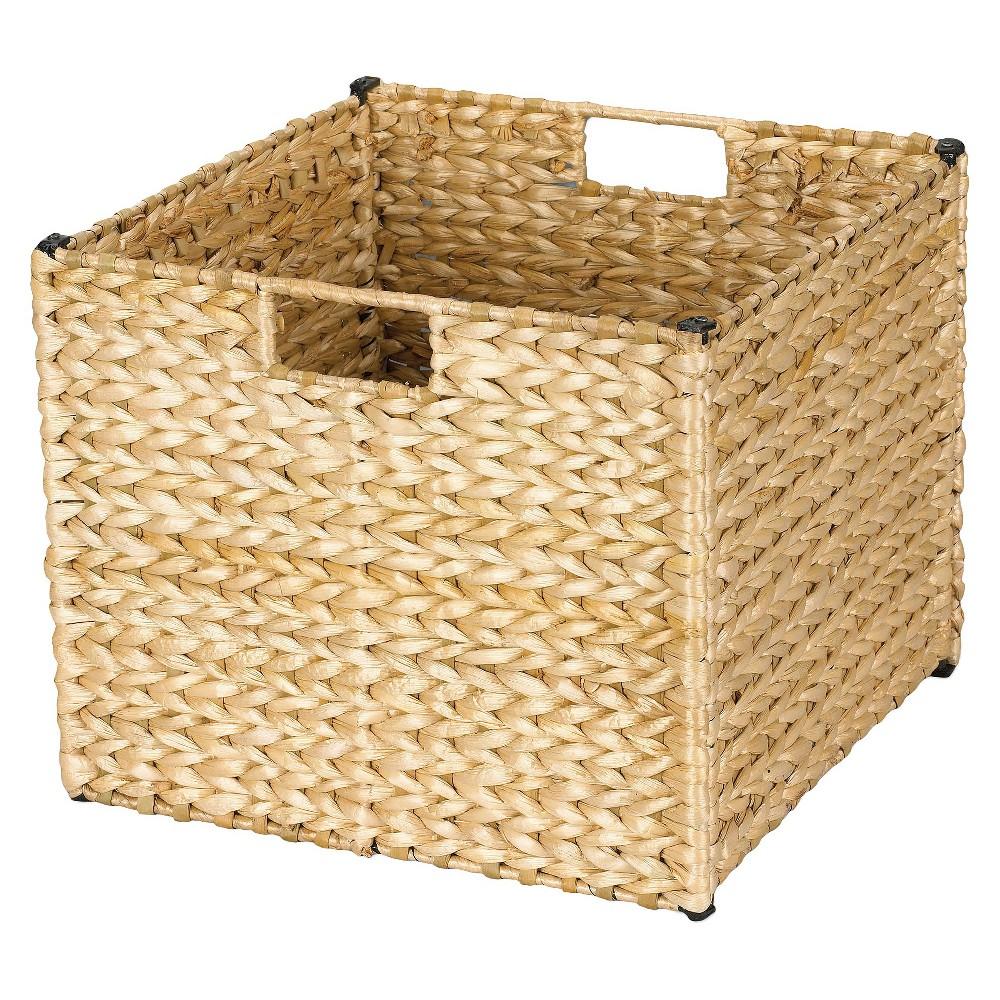 Image of Household Essentials Banana Leaf Cube Storage Basket - Natural, White