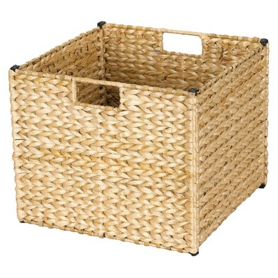 Beau Household Essentials® Banana Leaf Cube Storage Basket   Natural