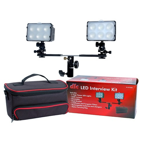 DLC LED Interview Kit with Full Power 2600 Lumen Light - Black (DL-DV2600) - image 1 of 1